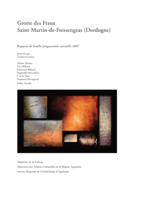 couverture du rapport 2007