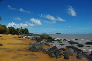 Site à polissoirs dans l'embouchure du Mahury