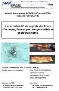 Couverture du diplôme d'ingénieur INSA de Benoît Cazalet