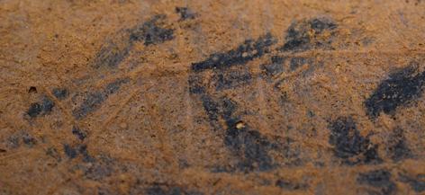 secteur 9 : décor de chevrons tracés au charbon